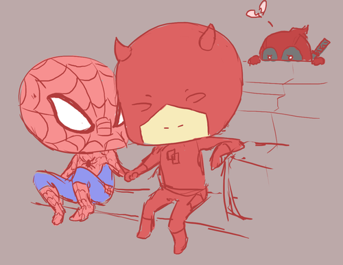 Daredevil Spider Man Wolverine Deadpool Nick Fury X 23 Red Pink Cartoon Mammal Fictional