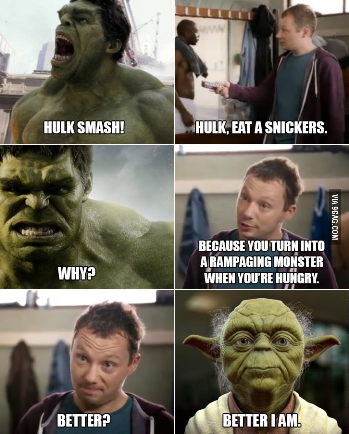 Better I Am Snickers Hungry Commercials Know Your Meme