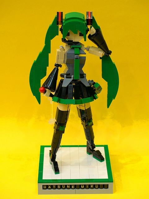 Hatsune Miku Figure Compatible with Lego