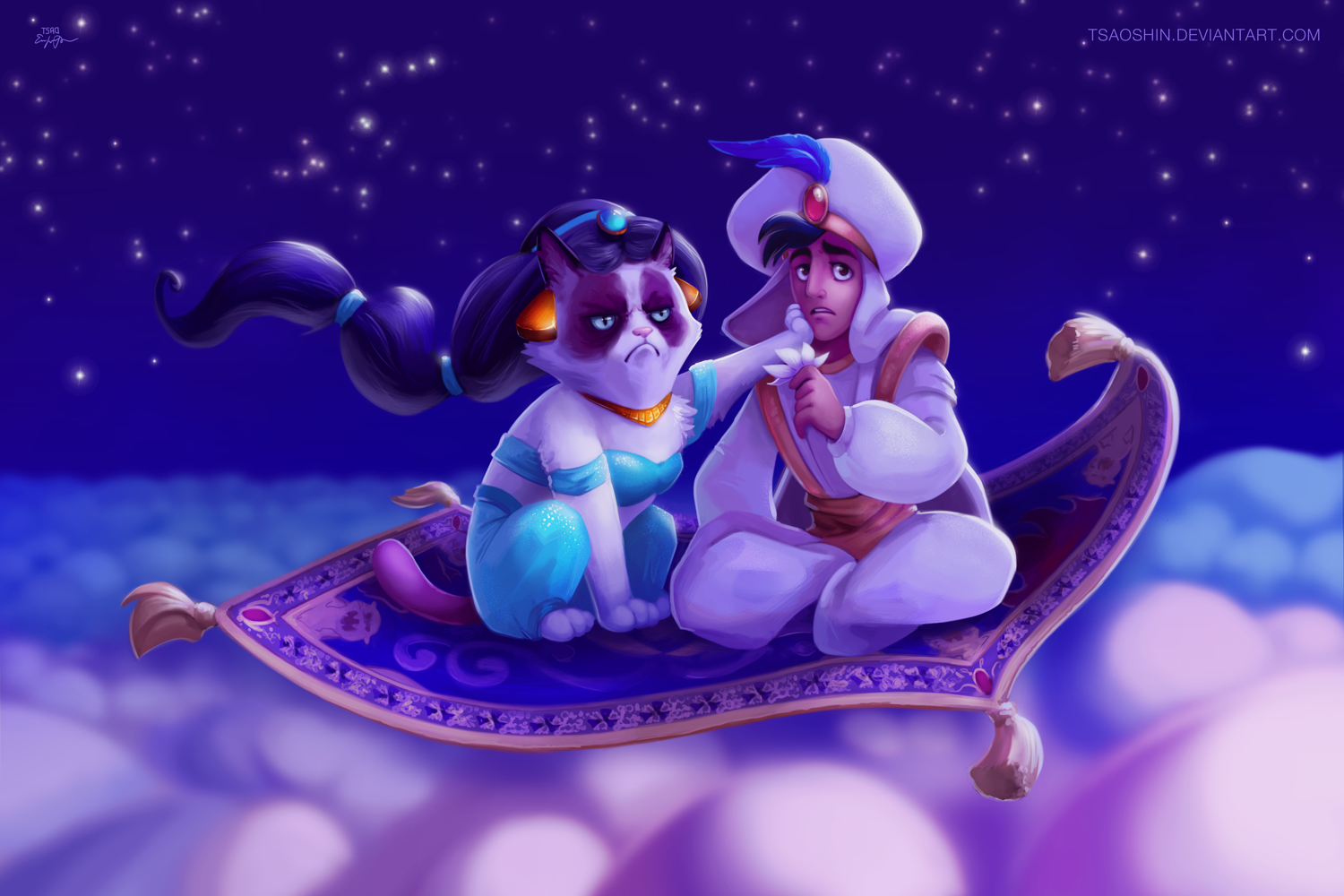 TSA0 TSAOSHINDEVIANTART COM Princess Jasmine Vertebrate Cartoon Purple Violet Sky Computer Wallpaper