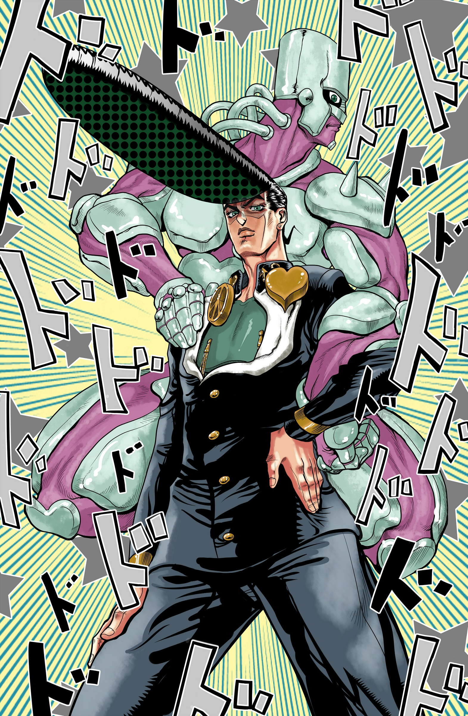 Image 591633 Jojo S Bizarre Adventure Know Your Meme He comes painted in his pink and blue color scheme, and includes several. bizarre adventure