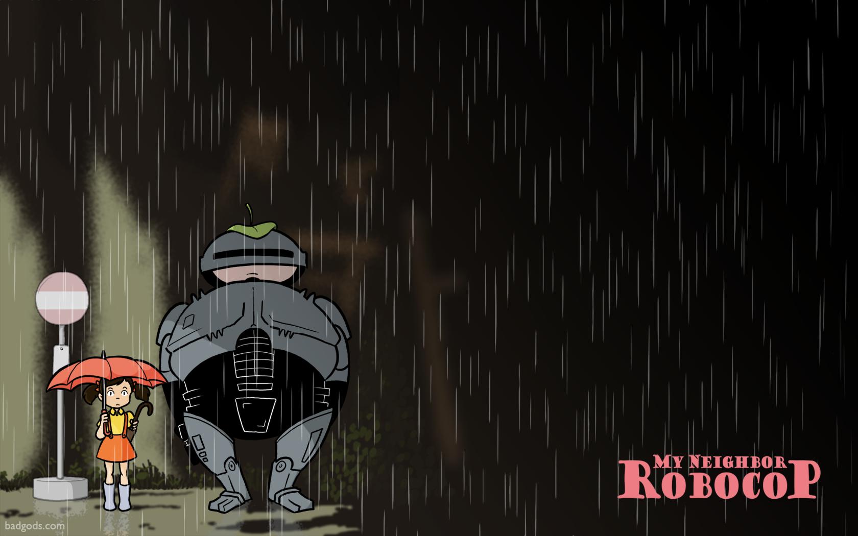 My Neighbor Robocop Totoro Bus Stop Parodies Know Your Meme