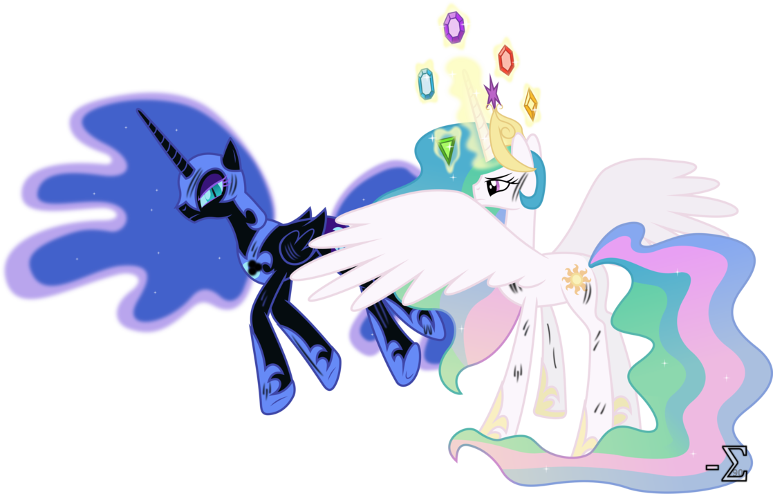 celestia defeats nightmare moon my little pony friendship is