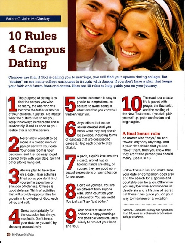 Rules of college dating