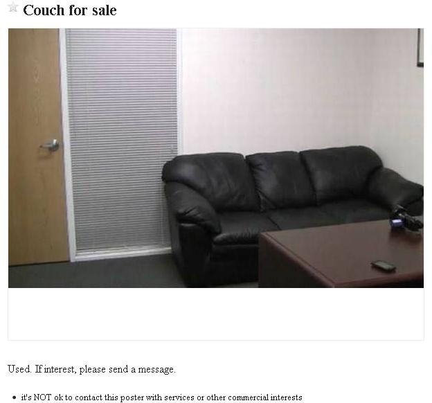 Couch For Sale Used If Interest Please Send A Message Its Not Ok To