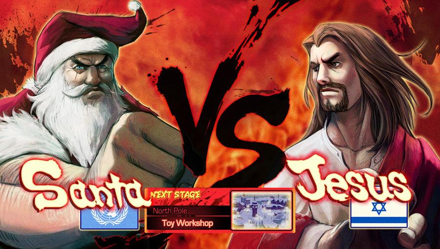 santa vs jesus alternate universe know your meme