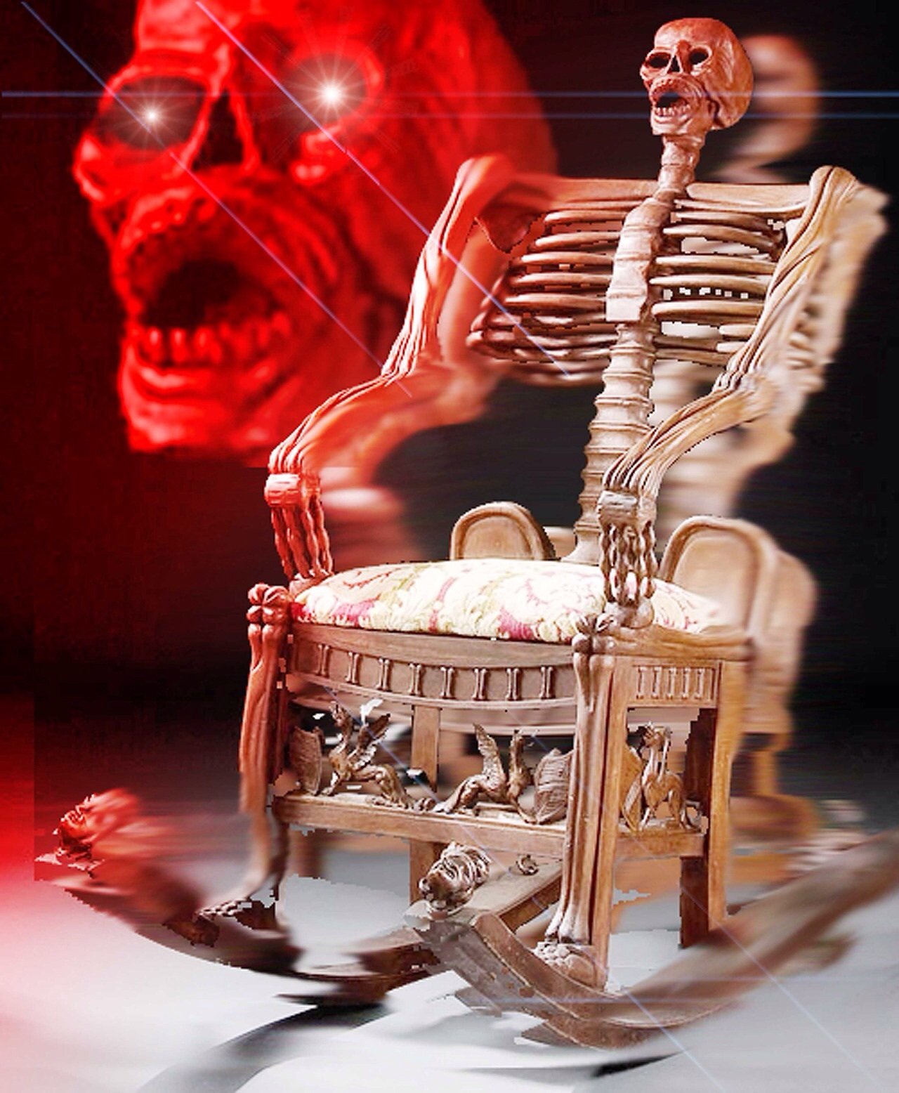skeleton chair reaction images know your meme