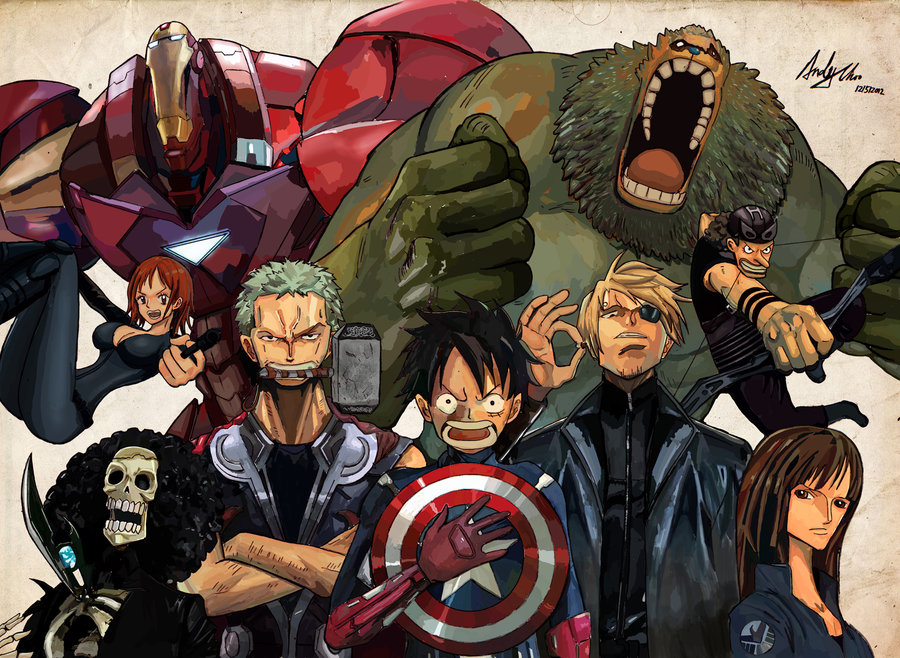 66f675bd4 One Piece Avengers | One Piece | Know Your Meme