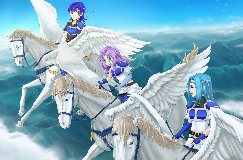 The Pegasus Sisters Of Fire Emblem Blazing Blade Fire Emblem