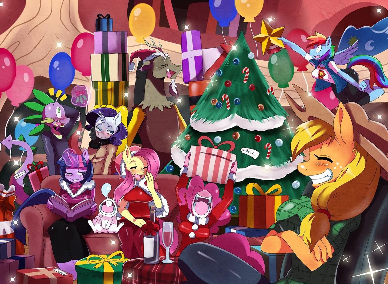 My Little Pony Christmas.Christmas Spirit My Little Pony Friendship Is Magic