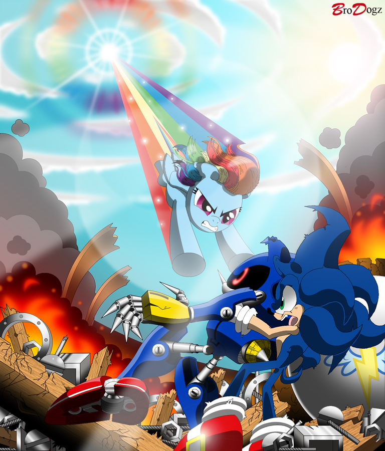 Sonic And Rainbow Dash Vs Metal Sonic My Little Pony Friendship