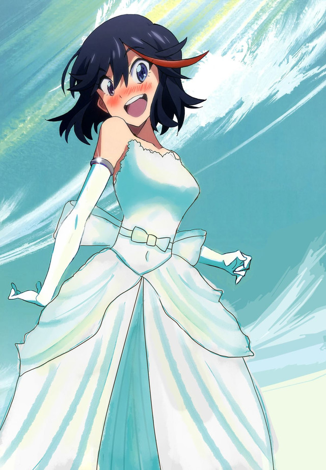 stunning Ryuko Wedding Part - 11: Ryuko Matoi anime human hair color black hair mangaka fictional character