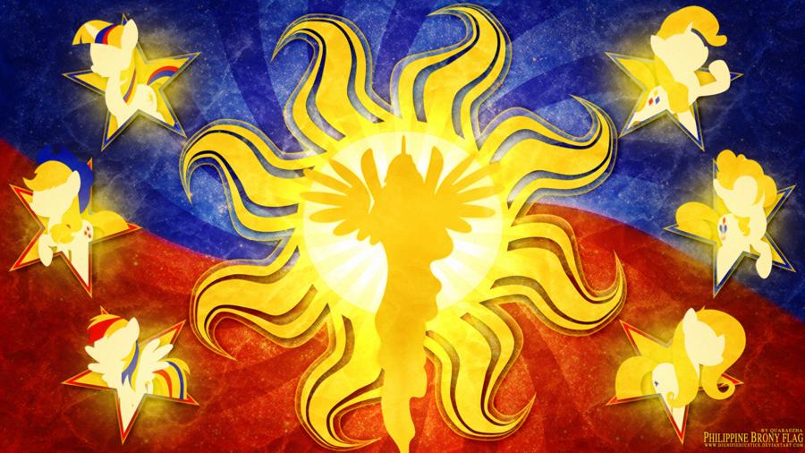 PHILIPPINE BRONY FLAG Philippines Yellow Art
