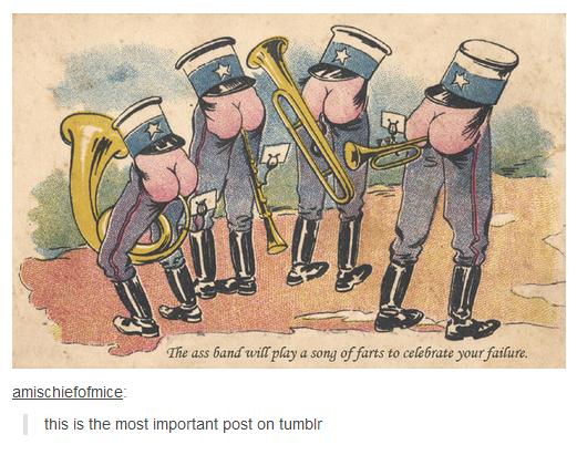 Monty python ass trumpet