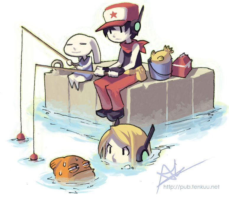 Chin fishing cave story know your meme httppubfenkuuf cave story 3d 1001 spikes mammal cartoon voltagebd Image collections