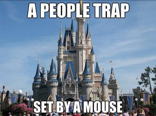 A PEOPLE TRAP SET BYA MOUSE Walt Disney World Landmark Amusement Park Tourist Attraction