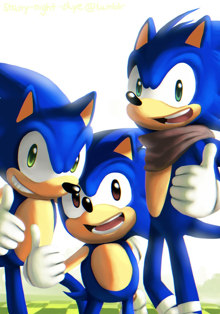Classic Sonic Modern Sonic Reboom Sonic Sonic The Hedgehog Know Your Meme