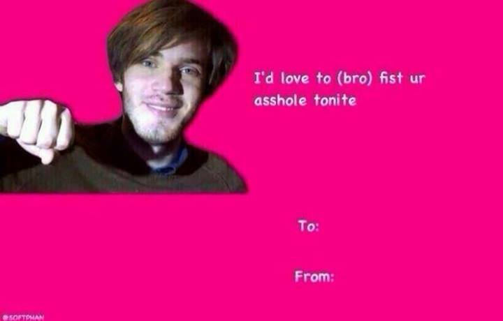Pewdiepie Brofist Valentine S Day E Cards Know Your Meme