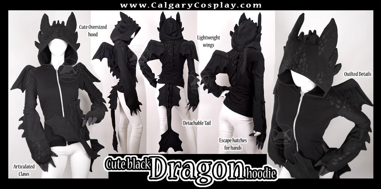 w ww.CalgaryCosplay.com Cute Oversized hood Lightweight wings Go Quilted Details Candda splay & Dragon Hoodie | Cosplay | Know Your Meme
