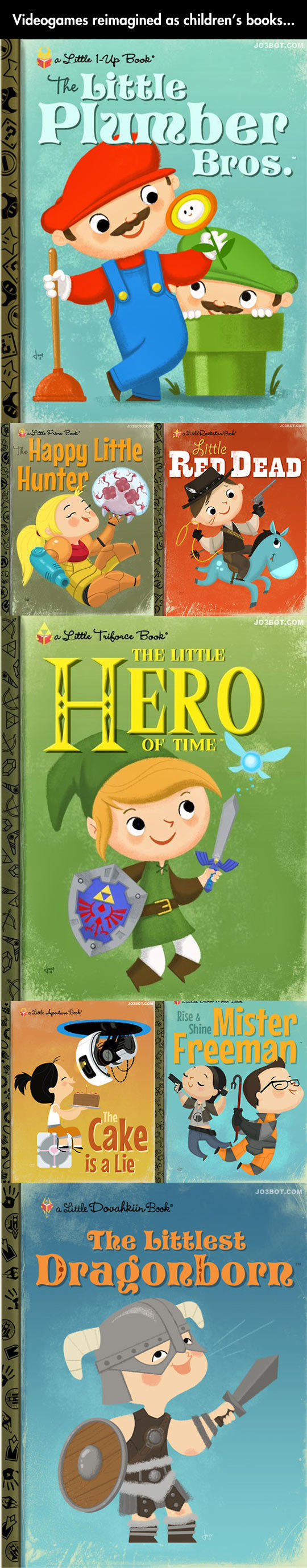 Classic Children S Book Cover ~ Video games reimagined as classic childrens books by joey spiotto