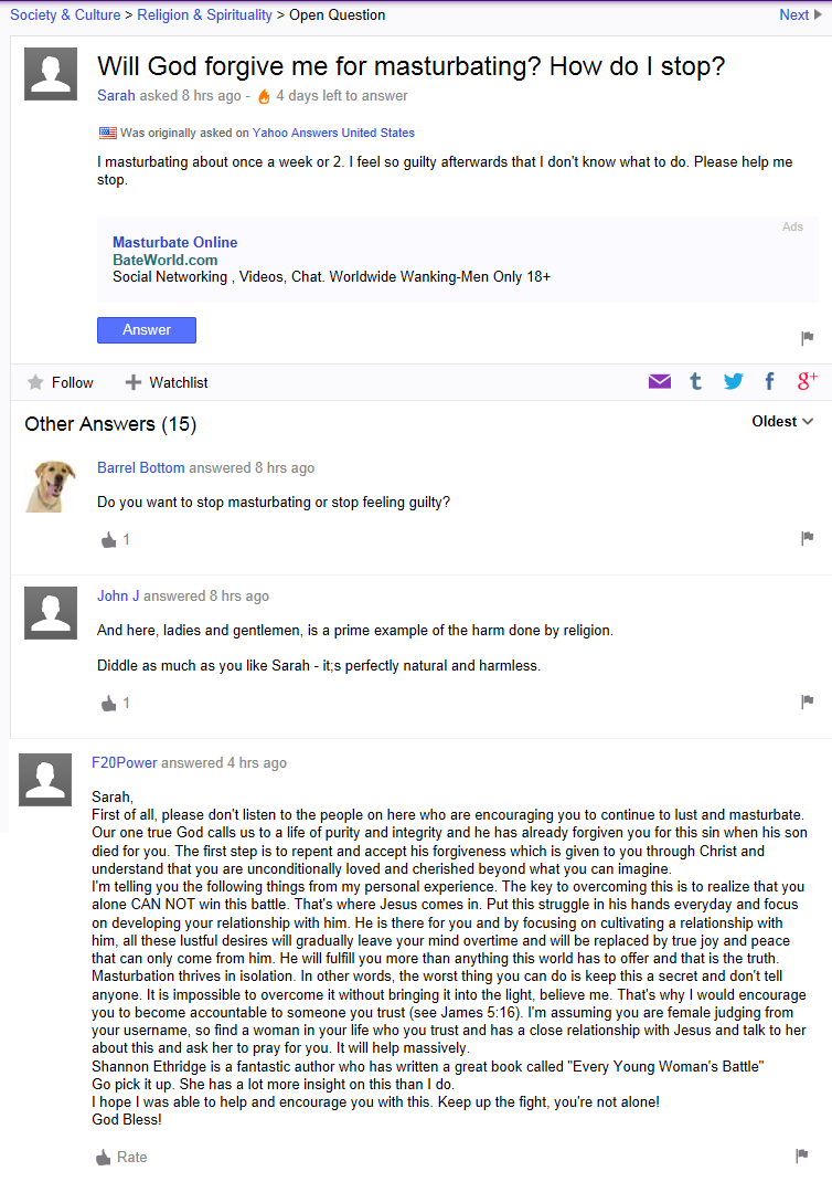masturbation-yahoo-answers