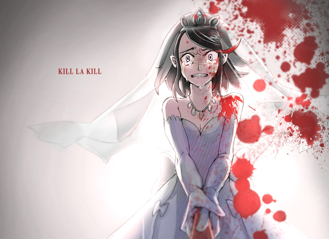 surprising Ryuko Wedding Part - 15: KILL LA KILL Ryuko Matoi Senketsu human hair color anime black hair mangaka  cg artwork girl