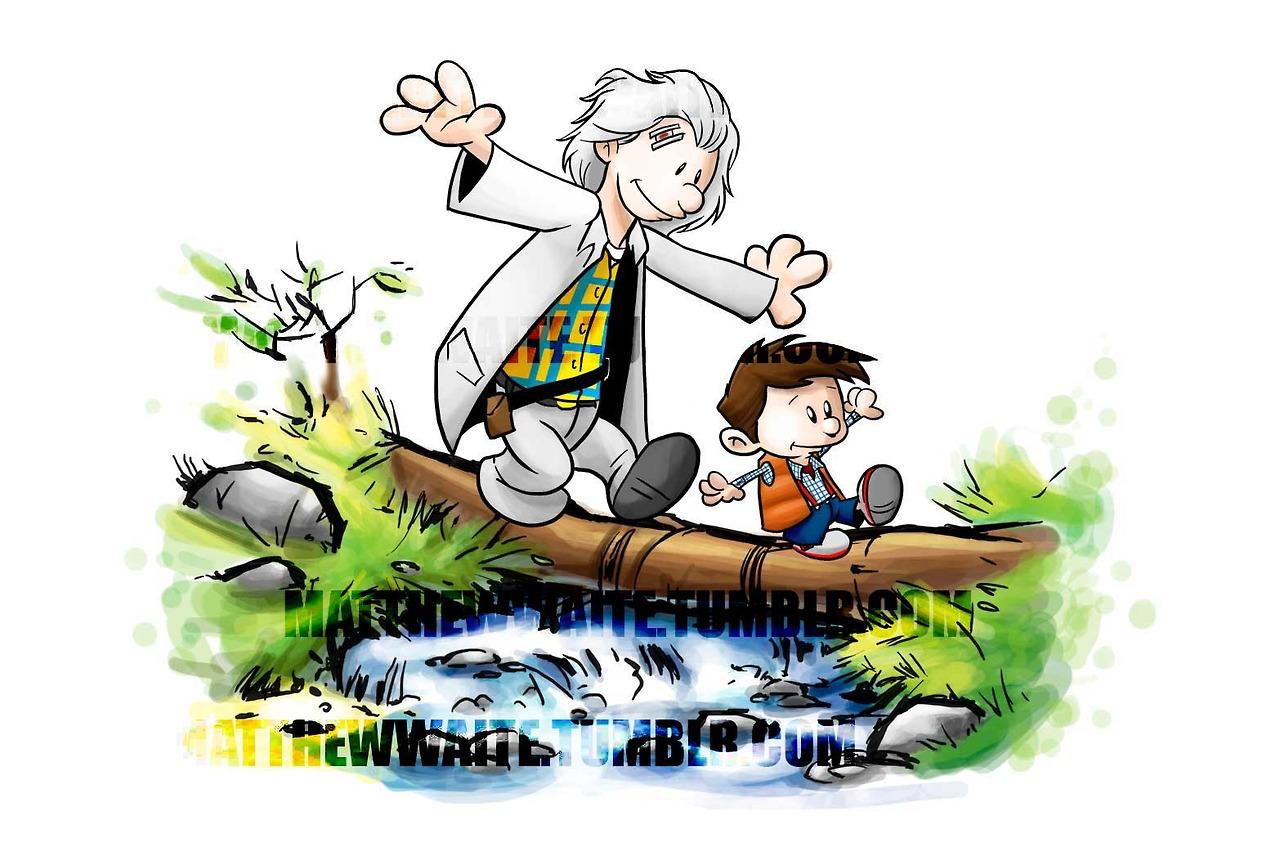 Image 712931 Calvin And Hobbes Log Bridge Parodies Know Your Meme