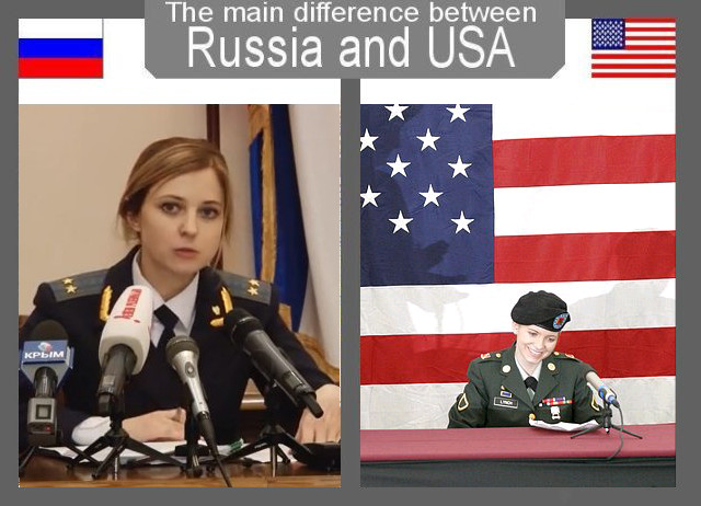The Main Difference Between Usa And Russia Natalia Vs Jessica