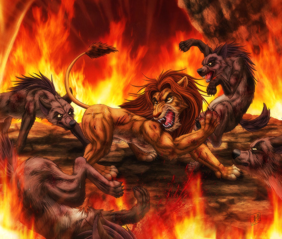 Simba Nala Shenzi Lion Hyena Mythology Flame Geological Phenomenon Lion  Fictional Character Computer Wallpaper Mythical Creature