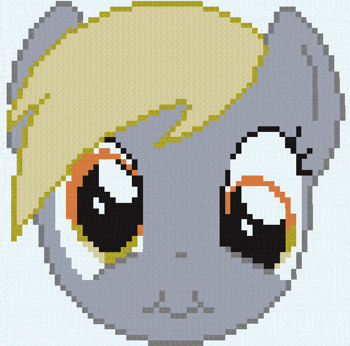 Minecraft Derpy Hooves Yellow Art Pattern Design Textile Material