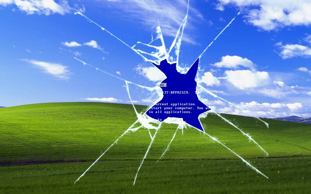 broken microsoft windows xp bliss wallpaper know your meme