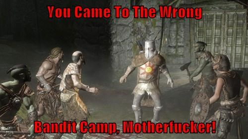 Wrong Bandit Camp Solaire Of Astora Know Your Meme