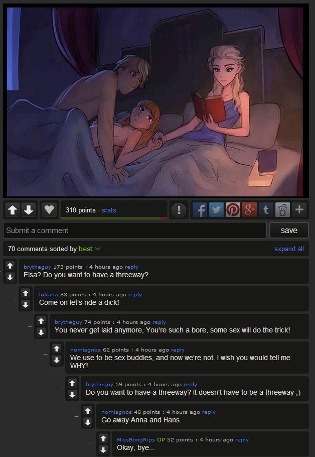 Frozen having sex consider, that