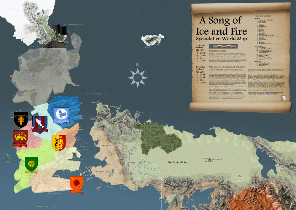 A google map of westeros game of thrones know your meme a song of ice and fire speculative world map shivering sss castle city castle narrow gumiabroncs Images