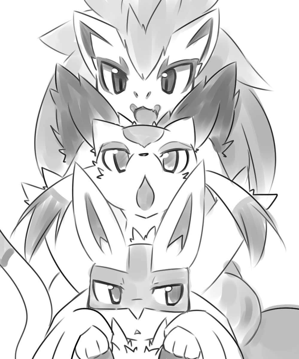 Lucario Mienshao And Zoroark By Ushioppoi Pokémon Know Your Meme