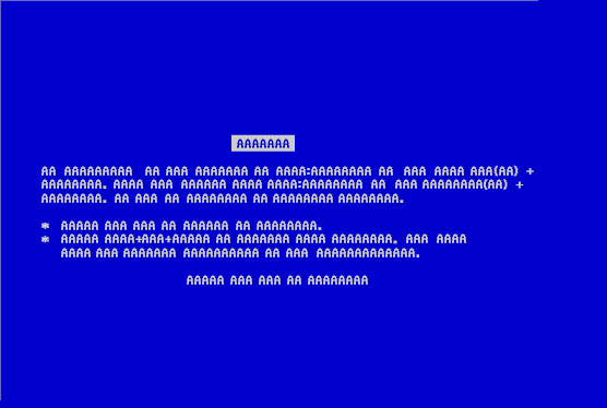 blue screen of aaaaa blue screen of death bsod know your meme