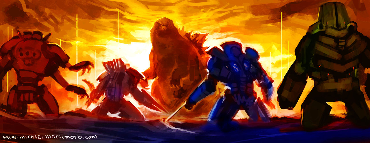 Godzilla 2014 Vs Slattern