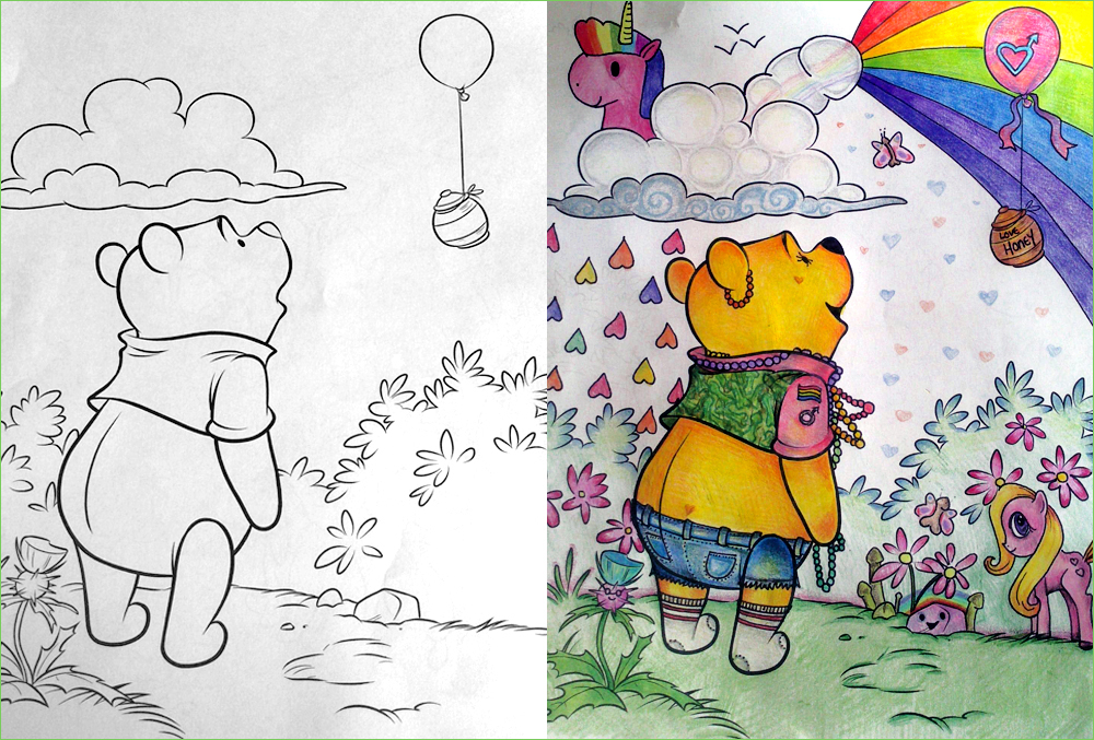 Pooh Goes To A Music Festival Children S Coloring Book Parodies