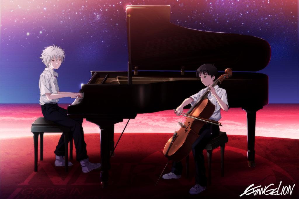 Neon Genesis Evangelion Shinji Ikari Raising Project Kaworu Nagisa Gendo Asuka Langley
