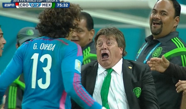 CRO 0-2 MEX 75 32 Miguel Herrera 2014 FIFA World Cup Mexico national 23094c6ad