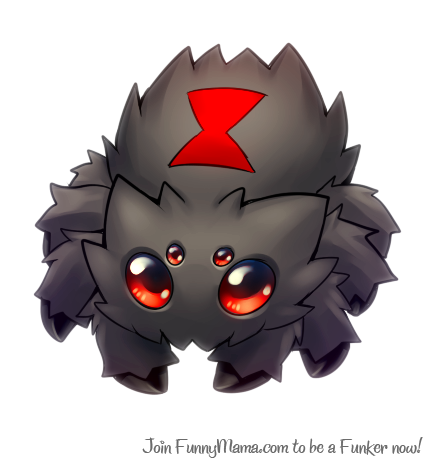 Black Widow Joltik Spiders Know Your Meme