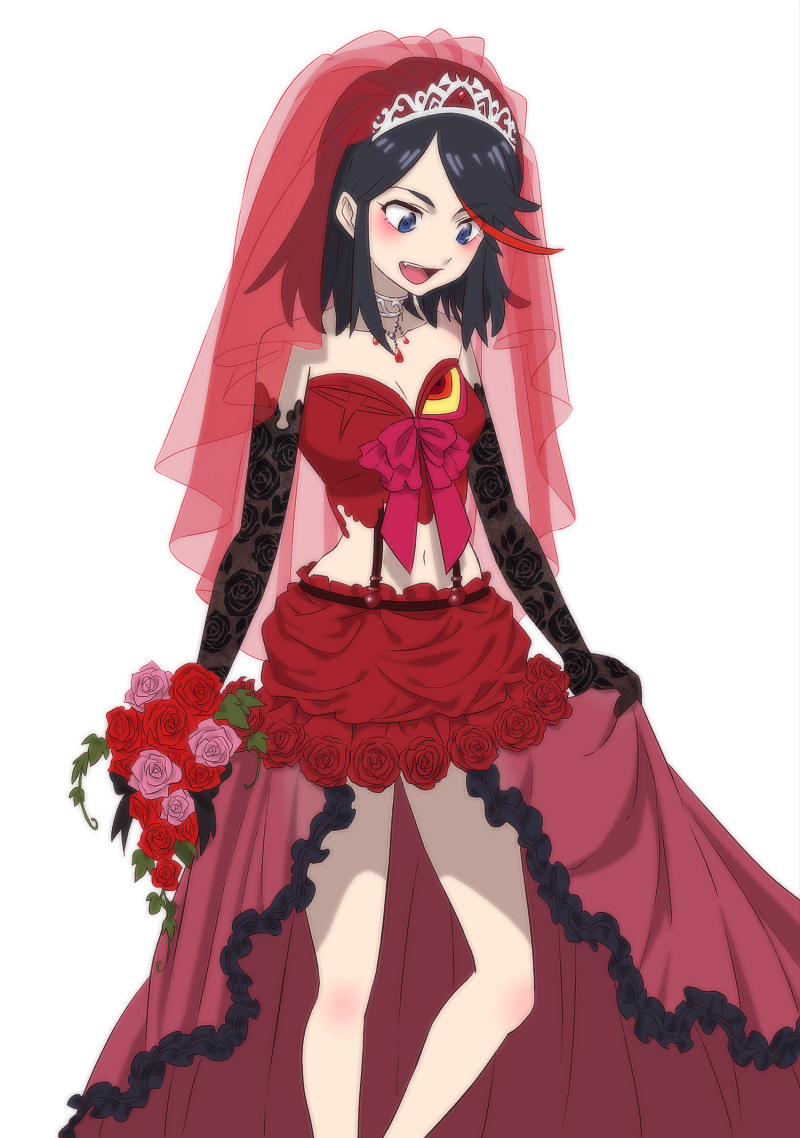 beautiful Ryuko Wedding Part - 4: Ryuko Matoi human hair color anime mangaka fictional character