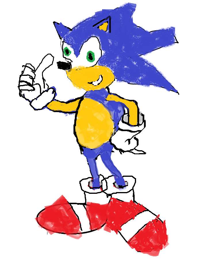 My Sonic Drawing Sanic Hegehog Know Your Meme