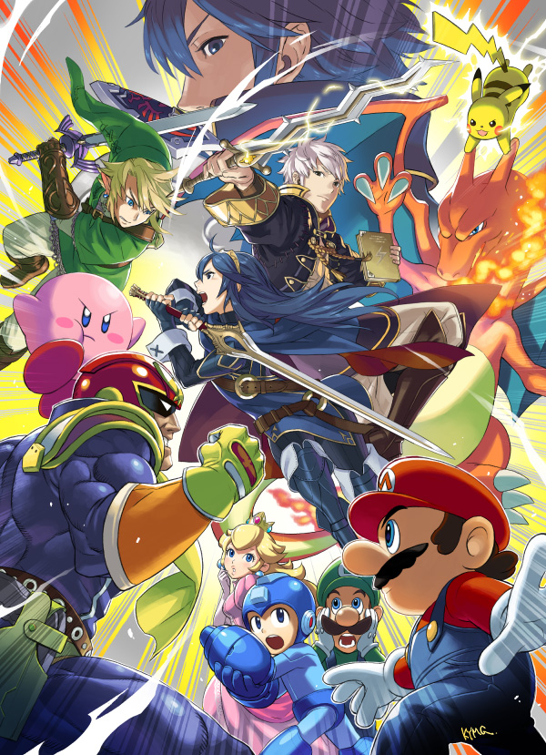 Robin And Lucina Promotional Artwork Super Smash Brothers Know