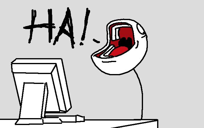 "Stick Figure Goes ""HA!""   Know Your Meme"