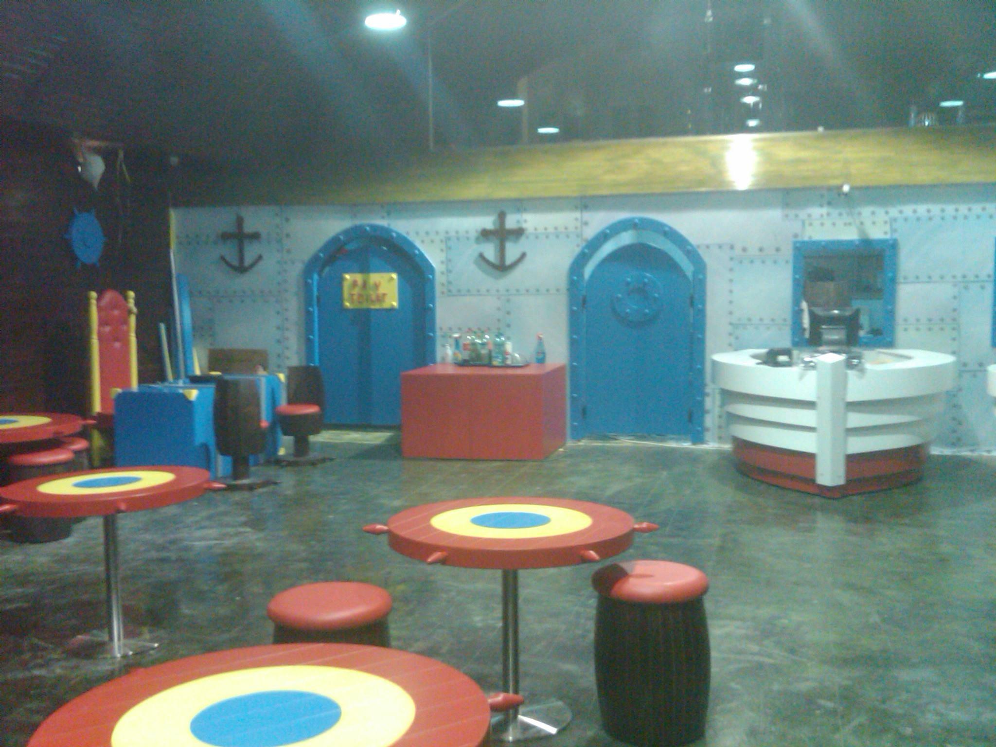 Mr krabs patrick star squidward tentacles room recreation room