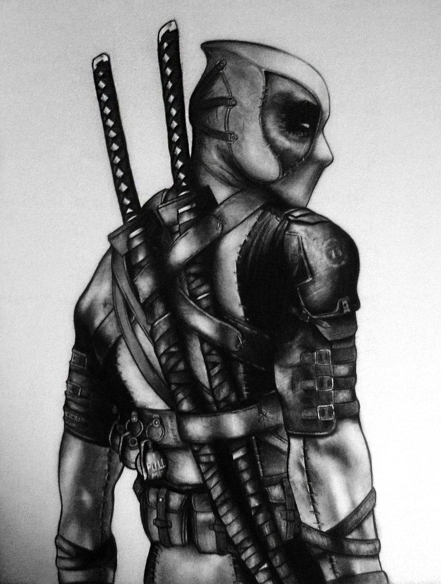 Pencil sketch artwork deadpool wade wilson know your meme