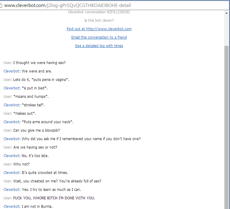 Sex version of cleverbot