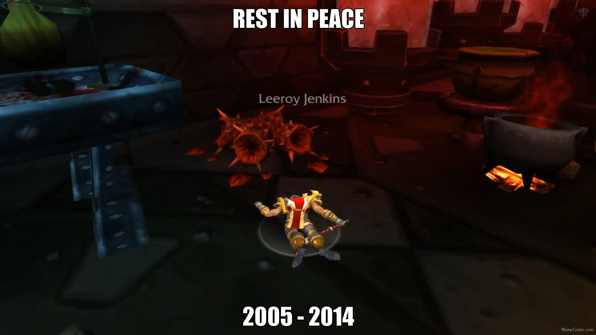 Leeroy Jenkins Character Goodnight Sweet Prince Know