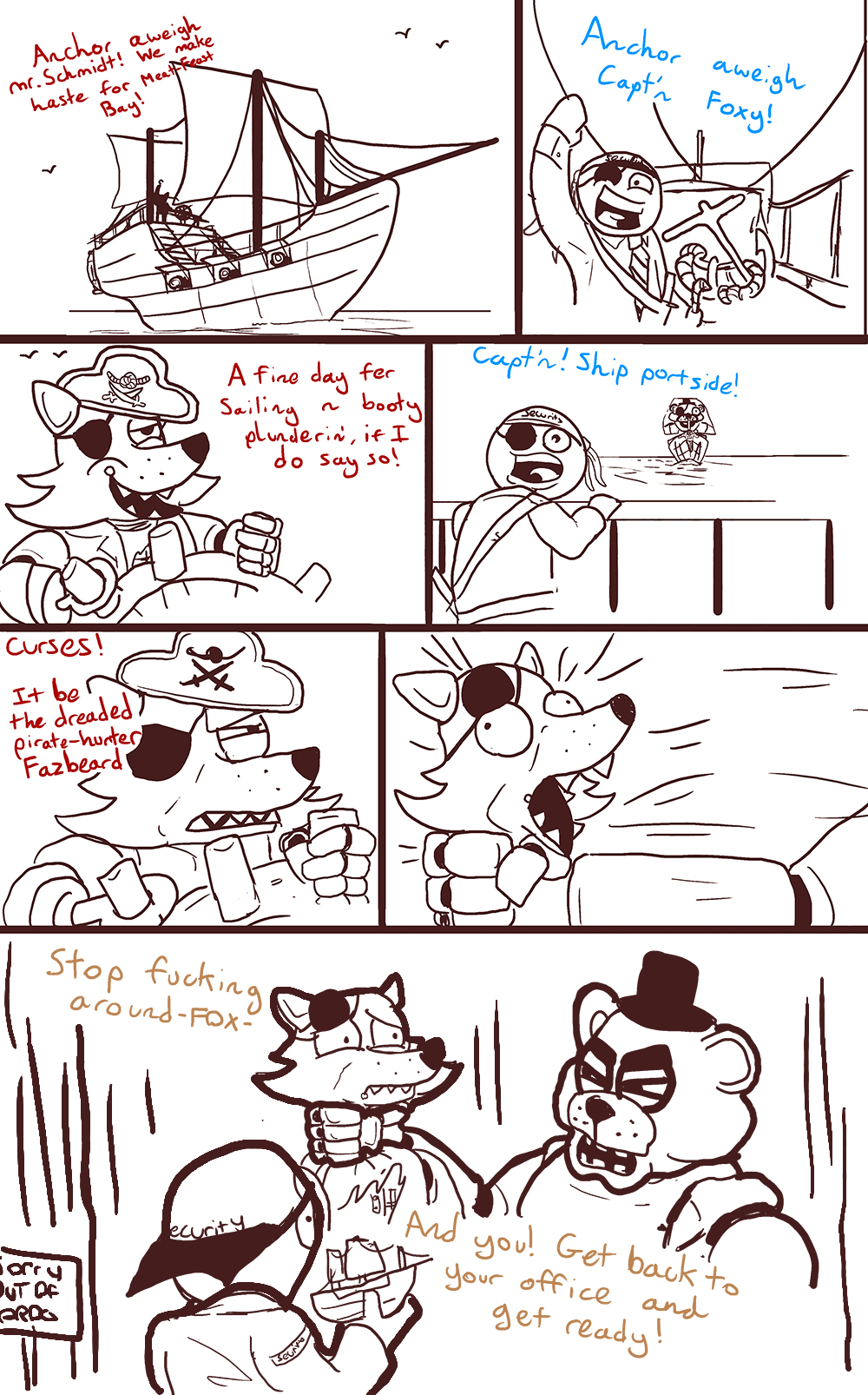 Fnaf Comics En Español image - 814536] | foxy | know your meme